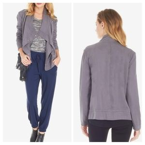 BB Dakota Grey Tencel Drape Light Moto Jacket XS